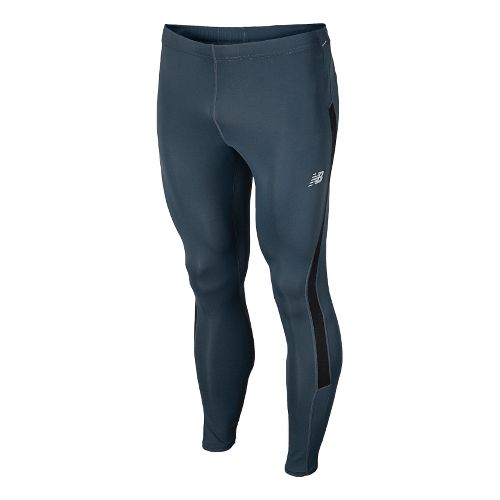 Mens New Balance Go 2 Fitted Tights - Petrol L