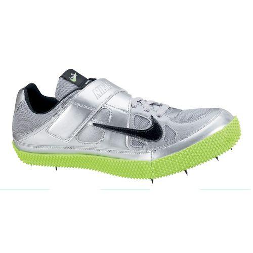 Mens Nike Zoom HJ III Track and Field Shoe - Silver/Neon Green 4