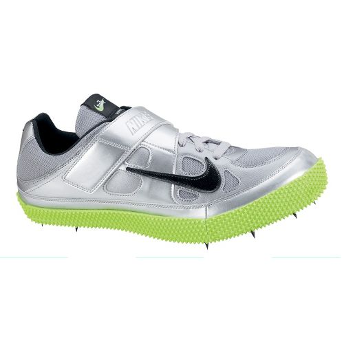 Mens Nike Zoom HJ III Track and Field Shoe - Silver/Neon Green 8.5