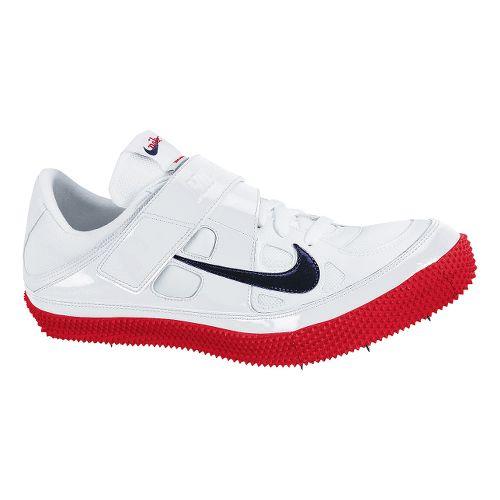 Mens Nike Zoom HJ III Track and Field Shoe - White/Red 5