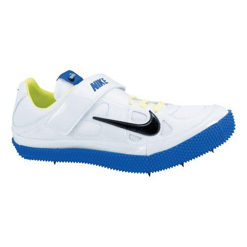 Mens Nike Zoom HJ III Track and Field Shoe - White/Royal 11.5