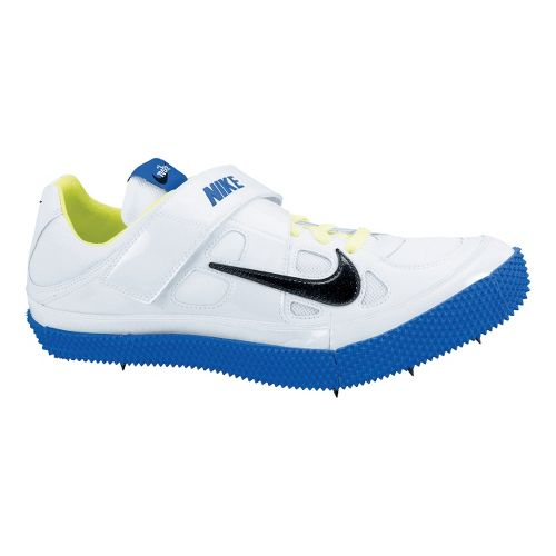Mens Nike Zoom HJ III Track and Field Shoe - White/Royal 9