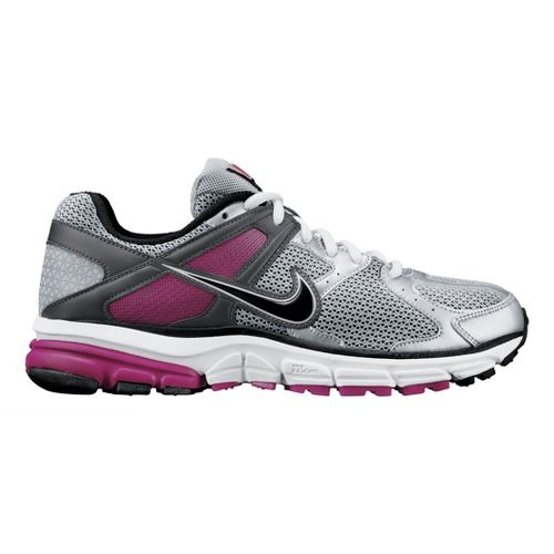 Womens Nike Zoom Structure Triax+ 14 Running Shoe - Silver/Plum 7.5