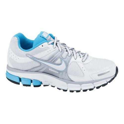 Childrens Nike Air Pegasus+ 27 GS Running Shoe - White/Light Blue 4.5