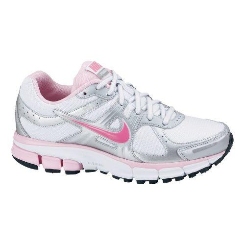 Childrens Nike Air Pegasus+ 27 GS Running Shoe - White/Pink 2