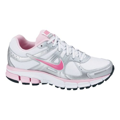 Childrens Nike Air Pegasus+ 27 GS Running Shoe - White/Pink 3.5