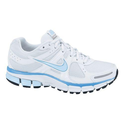Childrens Nike Air Pegasus+ 27 GS Running Shoe - White/Pale Blue 2.5