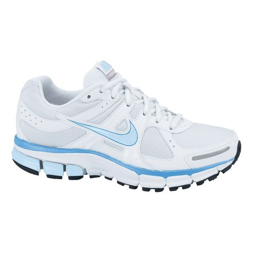 Childrens Nike Air Pegasus+ 27 GS Running Shoe - White/Pale Blue 6