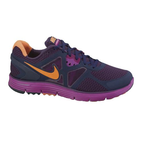 Womens Nike LunarGlide+ 3 Running Shoe - Berry/Orange 8.5