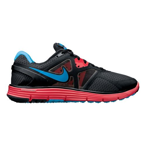 Womens Nike LunarGlide+ 3 Running Shoe - Charcoal/Fuschia 10