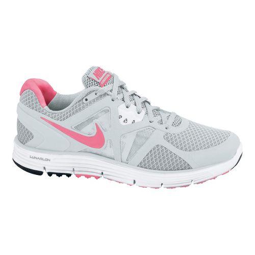 Womens Nike LunarGlide+ 3 Running Shoe - Platinum/Pink 9