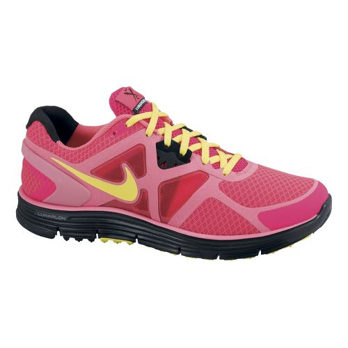 Womens Nike LunarGlide+ 3 Running Shoe - Red/Pink 11