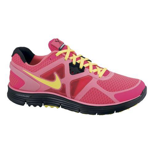 Womens Nike LunarGlide+ 3 Running Shoe - Red/Pink 9