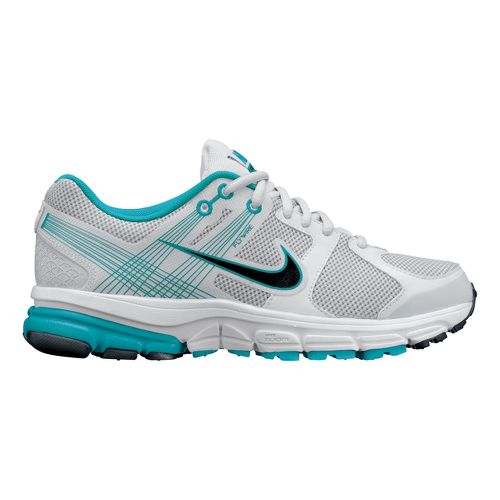 Womens Nike Zoom Structure+ 15 Running Shoe - Light Grey/Turquoise 12