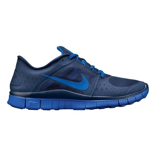 Mens Nike Free Run+ 3 Running Shoe - Navy/Blue 12.5