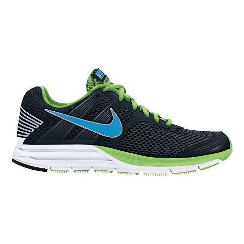 Mens Nike Zoom Structure+ 16 Running Shoe - Black/Lime 8