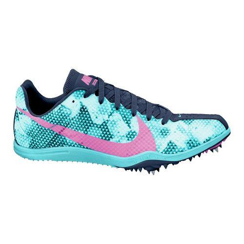 Womens Nike Zoom W4 Track and Field Shoe - Blue/Purple 5