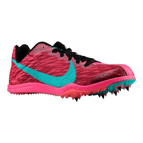 Womens Nike Zoom W4 Track and Field Shoe - Pink/Black 12