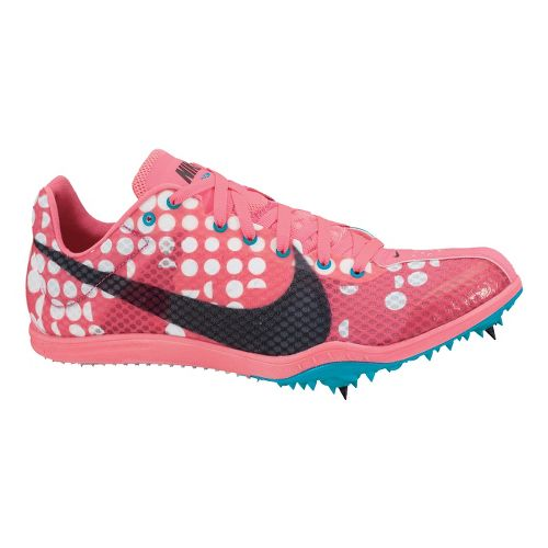 Womens Nike Zoom W4 Track and Field Shoe - Pink/Turquoise 7
