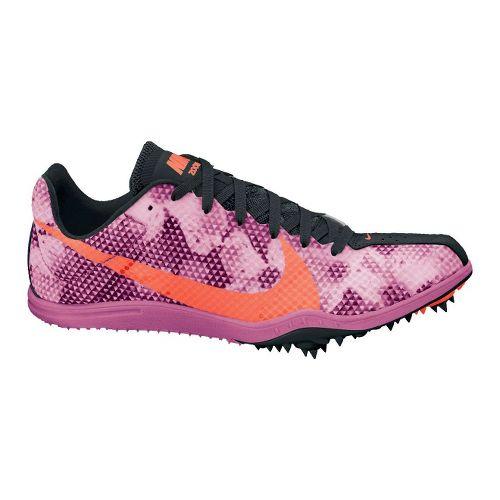 Womens Nike Zoom W4 Track and Field Shoe - Purple/Orange 7