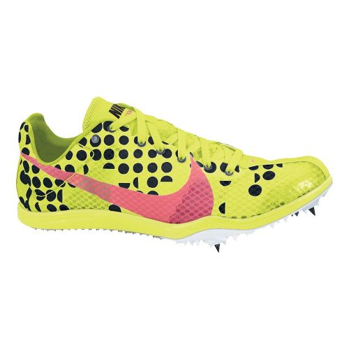Womens Nike Zoom W4 Track and Field Shoe - Volt/Pink 9.5