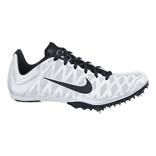Mens Nike Zoom Maxcat 4 Track and Field Shoe - White 4.5