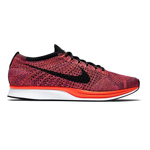 Nike Flyknit Racer Racing Shoe - Orange/Purple 14
