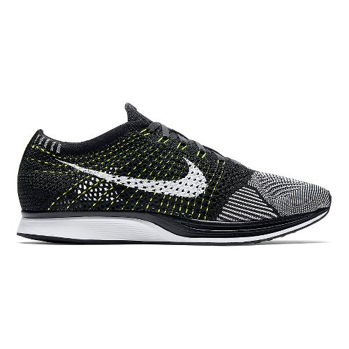 Nike Flyknit Racer Racing Shoe - Black/White/White 11
