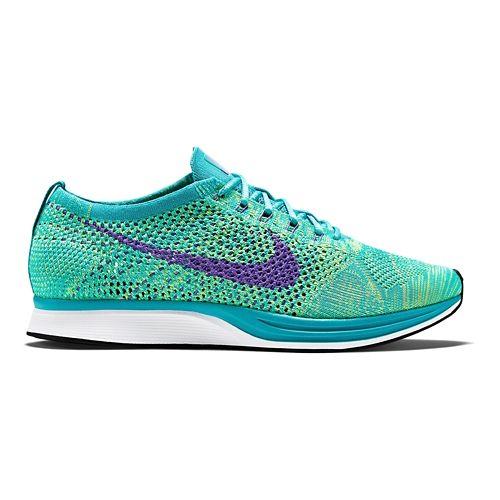 Nike Flyknit Racer Racing Shoe - Turquoise/Volt 11.5