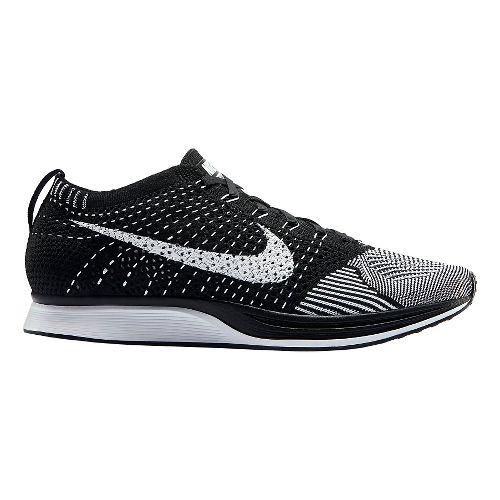 Nike Flyknit Racer Racing Shoe - Black/White 8.5