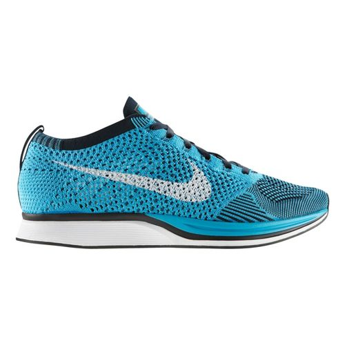 Nike Flyknit Racer Racing Shoe - Blue 6.5