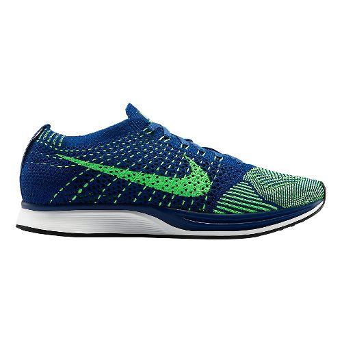 Nike Flyknit Racer Racing Shoe - Blue/Green 5.5