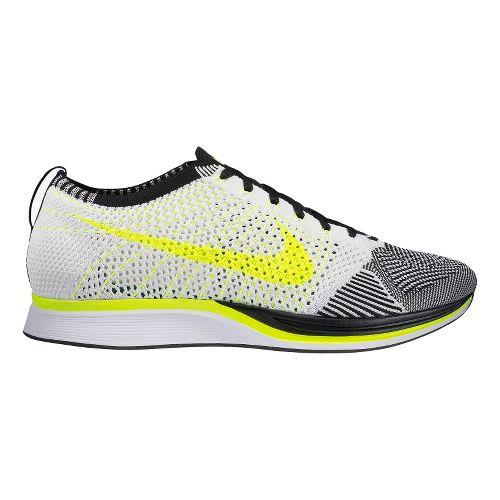 Nike Flyknit Racer Racing Shoe - Grey/Volt 5
