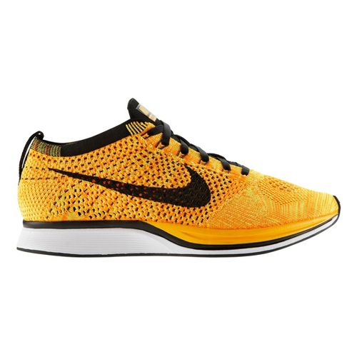 Nike Flyknit Racer Racing Shoe - Orange/Black 6