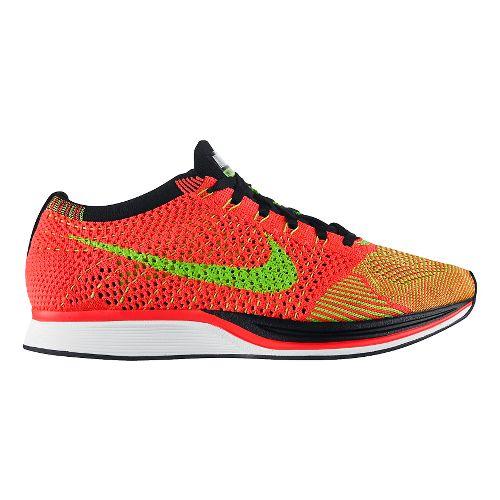 Nike Flyknit Racer Racing Shoe - Pink/Green 8