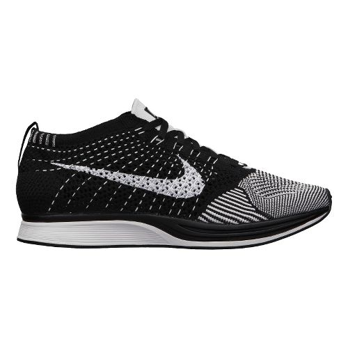 Nike Flyknit Racer Racing Shoe - White/Black 6