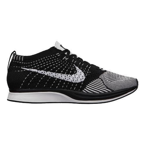 Nike Flyknit Racer Racing Shoe - White/Black 9