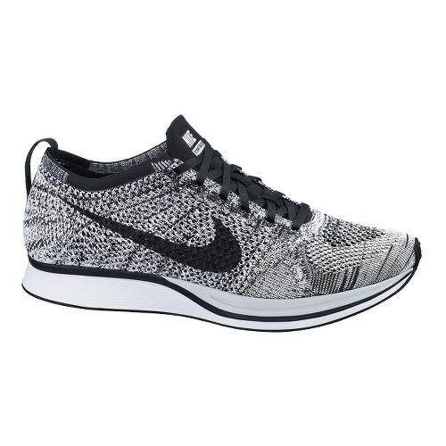 Nike Flyknit Racer Racing Shoe - White/Volt 9.5