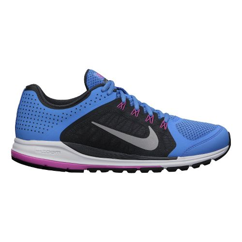 Womens Nike Zoom Elite+ 6 Running Shoe - Blue/Charcoal 7