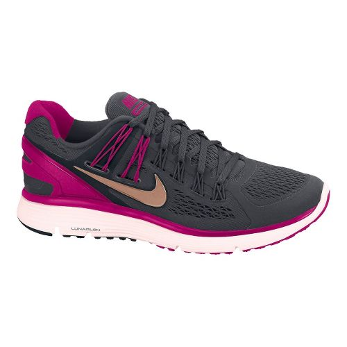 Womens Nike LunarEclipse+ 3 Running Shoe - Charcoal/Fuschia 11
