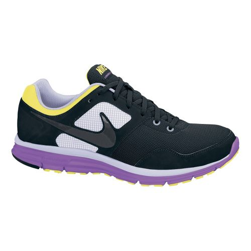 Womens Nike LunarFly+ 4 Running Shoe - Black/Purple 8