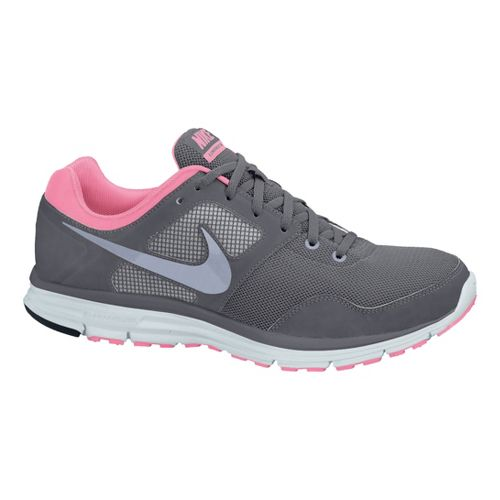 Womens Nike LunarFly+ 4 Running Shoe - Grey/Pink 8