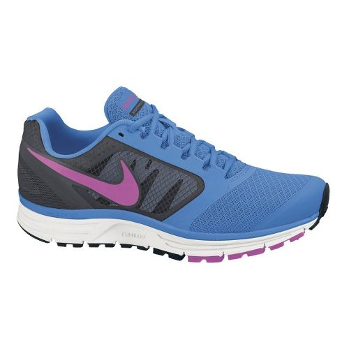 Womens Nike Zoom Vomero+ 8 Running Shoe - Blue/Pink 7.5