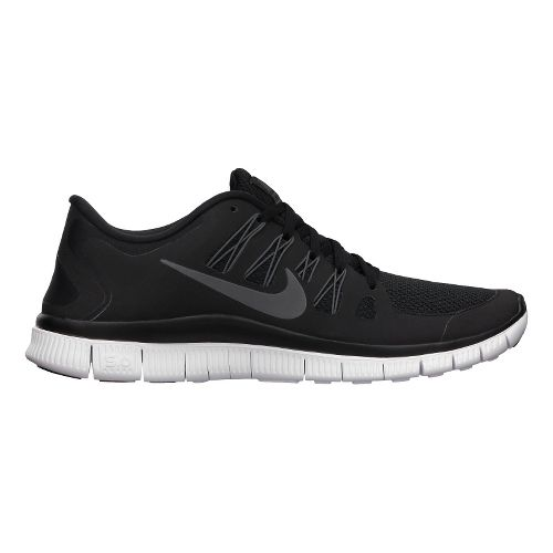 Mens Nike Free 5.0+ Running Shoe - Black/Grey 10