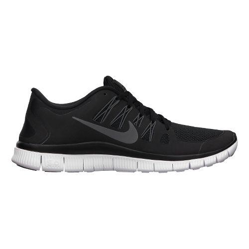 Mens Nike Free 5.0+ Running Shoe - Black/Grey 11.5