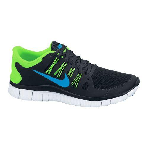 Mens Nike Free 5.0+ Running Shoe - Black/Lime 11.5