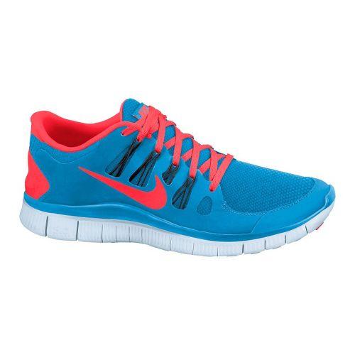 Mens Nike Free 5.0+ Running Shoe - Blue/Red 11.5