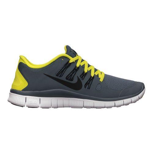 Mens Nike Free 5.0+ Running Shoe - Charcoal/Yellow 11.5