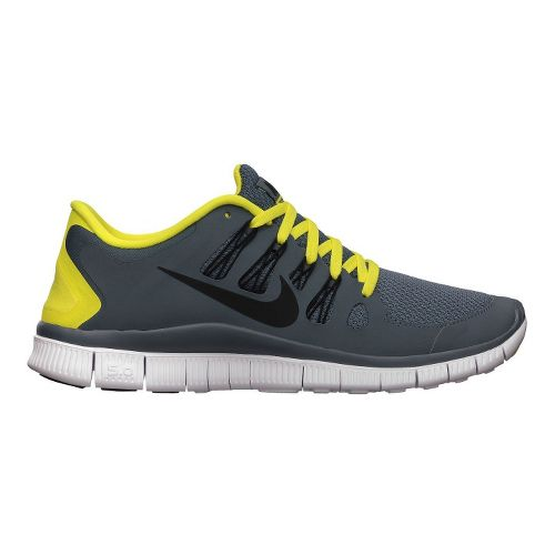 Mens Nike Free 5.0+ Running Shoe - Charcoal/Yellow 8