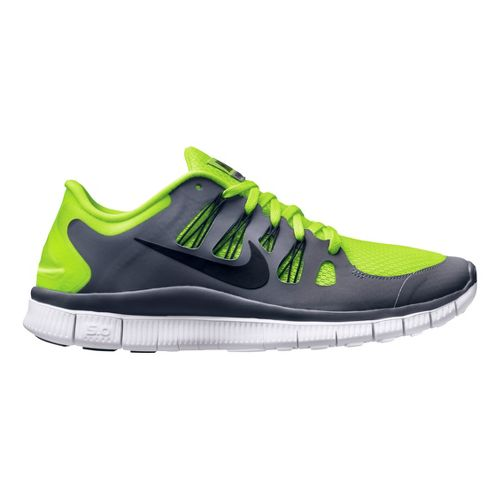 Mens Nike Free 5.0+ Running Shoe - Grey/Volt 10